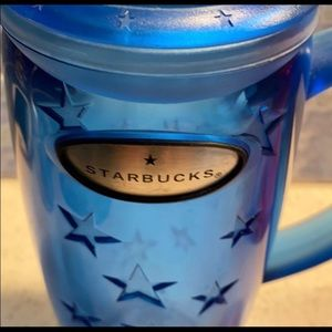 Starbucks Kitchen - STARBUCKS set of 2! blue plastic 16oz cups